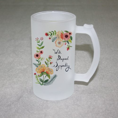 16oz frosted beer mug A